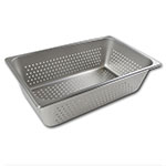 Browne Halco 8006P Full-Sized Steam Pan - Perforated, Stainless