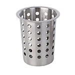 "Browne Halco 80110 3.75"" Round Flatware Cylinder, Perforated, Stainless Steel"