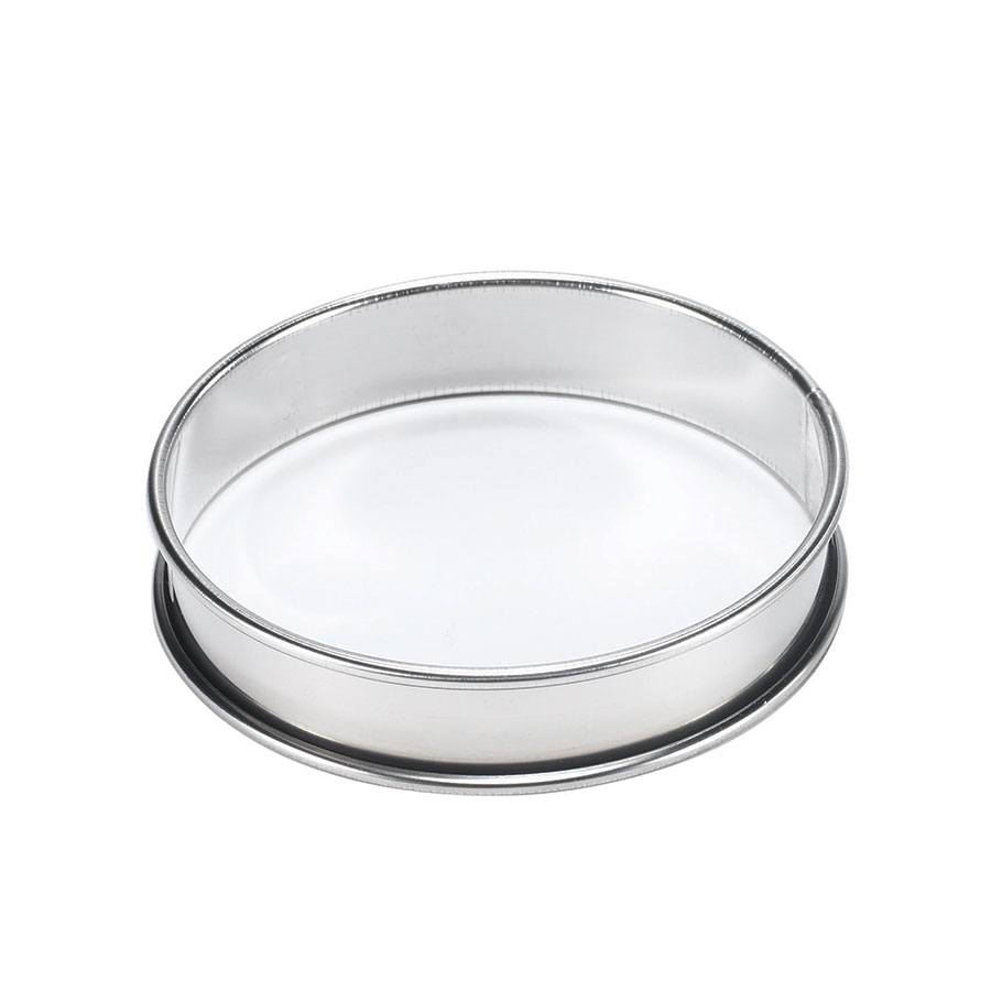Browne Foodservice 80824940 Tart Ring, 4 in Rolled Edge, Tinned Steel