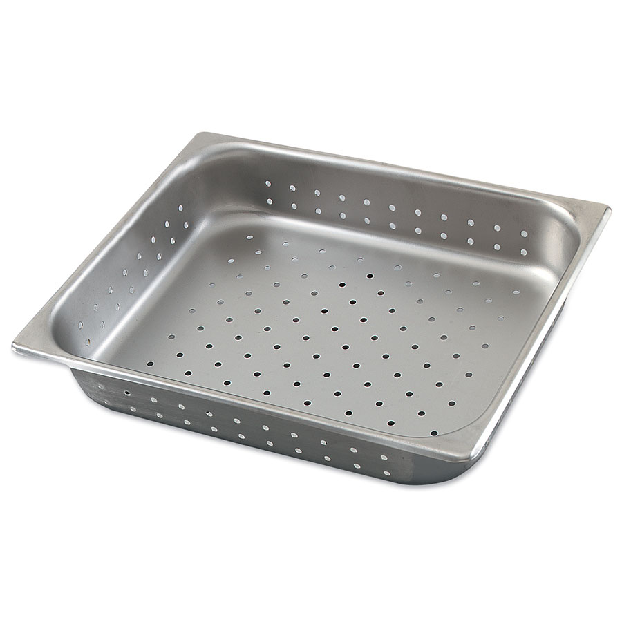 Browne Halco 8124P Half-Sized Steam Pan - Perforated, Stainless
