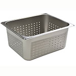 Browne Halco 8126P Half-Sized Steam Pan - Perforated, Stainless