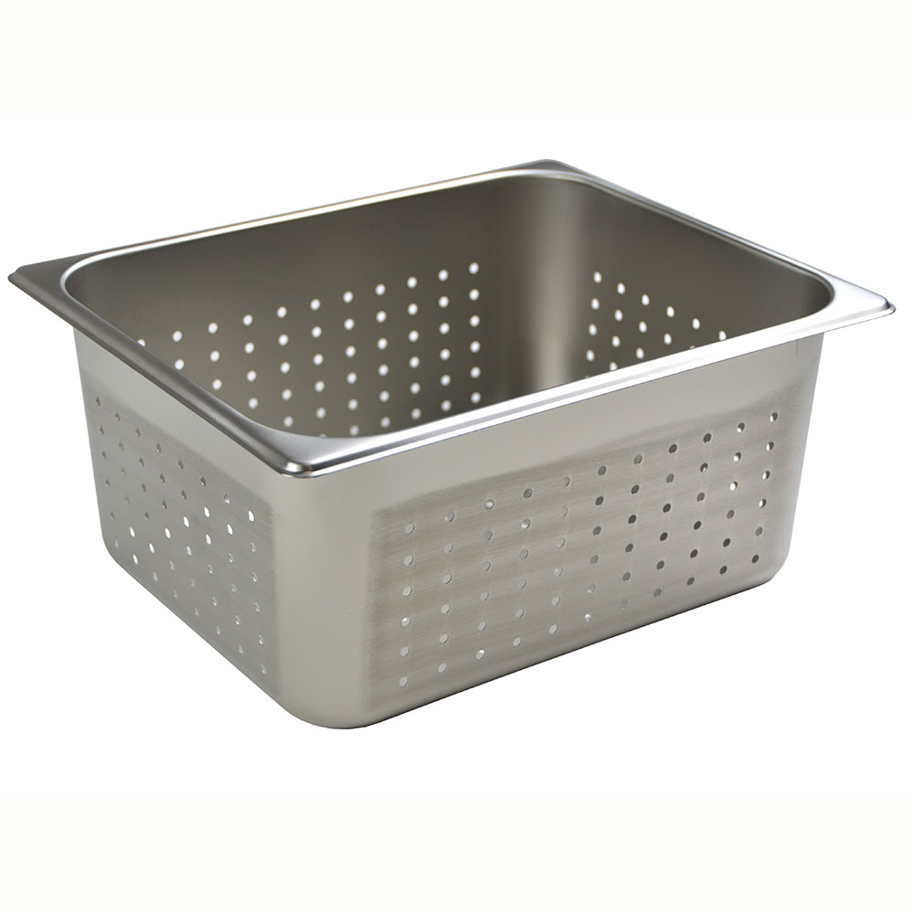 Browne Foodservice 8126P Half-Sized Steam Pan - Perforated, Stainless