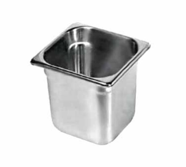 Browne Foodservice 8166 Sixth-Size Steam Pan, Stainless