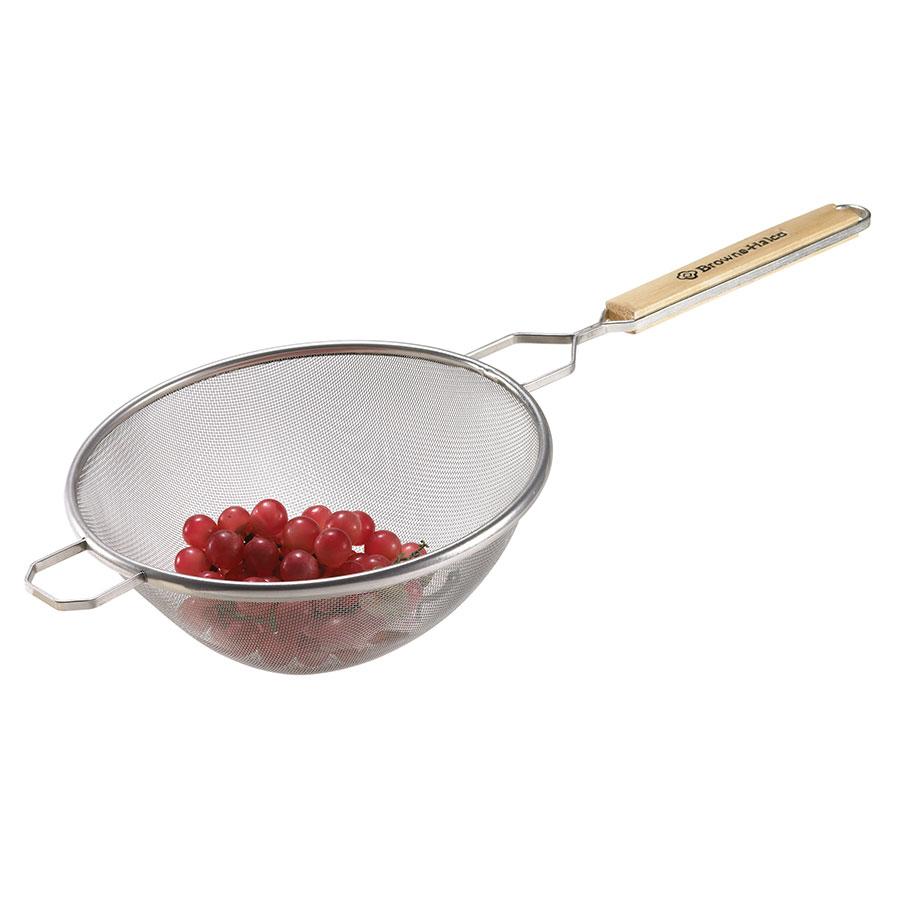 "Browne Halco 8198 Strainer, Medium Double Mesh, 8"" Bowl, Pan Hook"