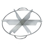 Browne 856 Pie Cutter, 6 Cut, Stainless Steel