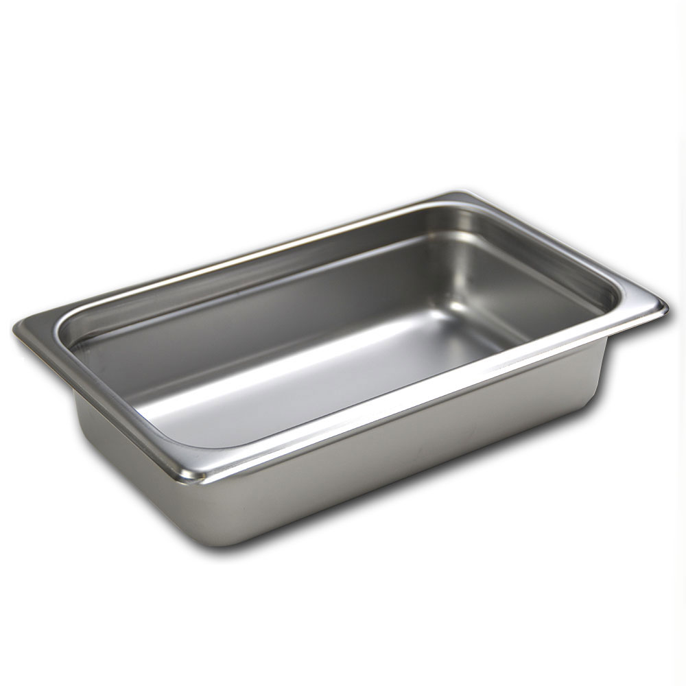 Browne 88142 Fourth-Size Steam Pan, Stainless