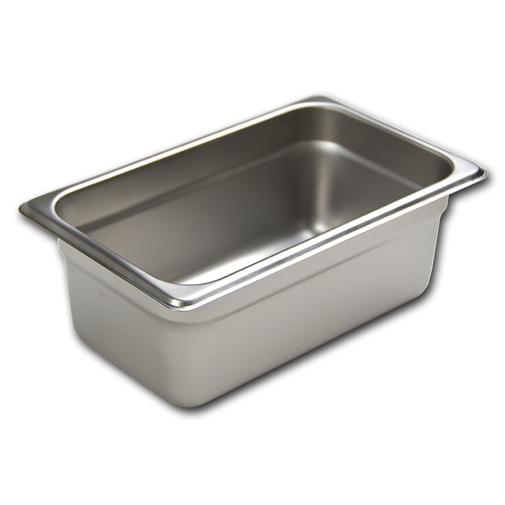 Browne 88144 Fourth-Size Steam Pan, Stainless