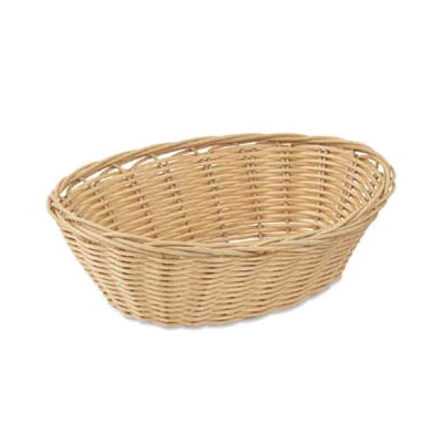 Browne Halco 8879 Basket, 9 x 7 x 3 in , Oval, Polypropylene, Odorless, Dishwasher Safe