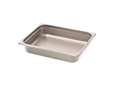 Browne Foodservice 98144 Fourth-Size Steam Pan, Stainless