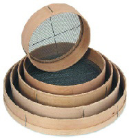 Browne Foodservice 9816 Wooden Rimmed Sieve, 16 x 2-3/4 in