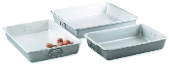 Browne Halco A12183 Roast Pan, 12 x 18 x 3 in, Aluminum, w/ Square Loop Handles