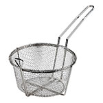 "Browne Halco B0100 9.5"" Round Fryer Basket, Nickel Plated"