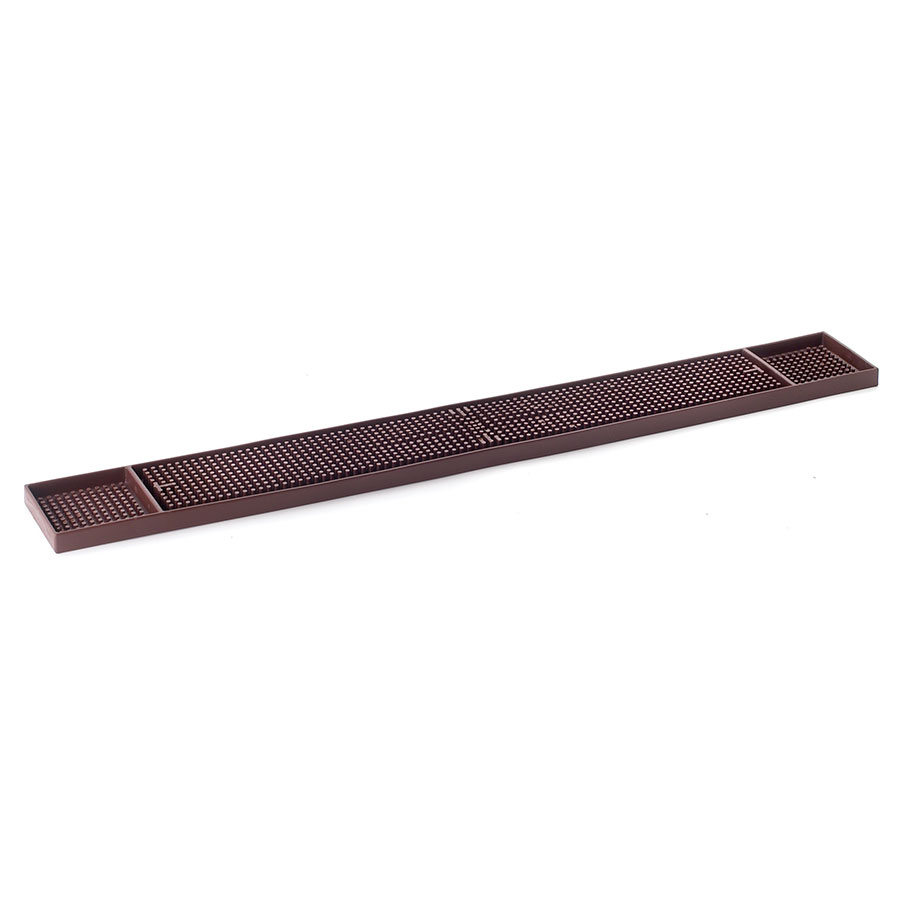 Browne Foodservice BD273BR Bar Drainer/Mat. 3-1/4 x 24 in, Well At Each End