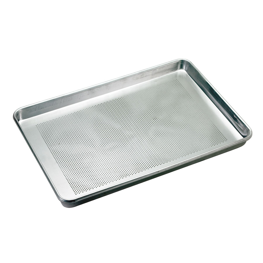 Browne BP1826-12P Thermalloy Half Size Bun Pan, 18 x 13 x 1 in, Perforated, Aluminum