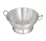 Browne Foodservice CA1616E 16 qt Aluminum Colander, 16-1/2 in Diameter, Riveted Handles