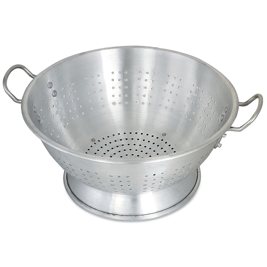 "Browne Halco CA1616 Colander, 16 qt, 16-1/2 in, 3/16""Holes,  Heavy-Duty Aluminum,"