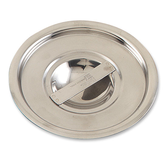 Browne Foodservice CBMP4 Bain Marie Pot Cover, Solid, Fits 4-1/4 qt Pot, Stainless Steel