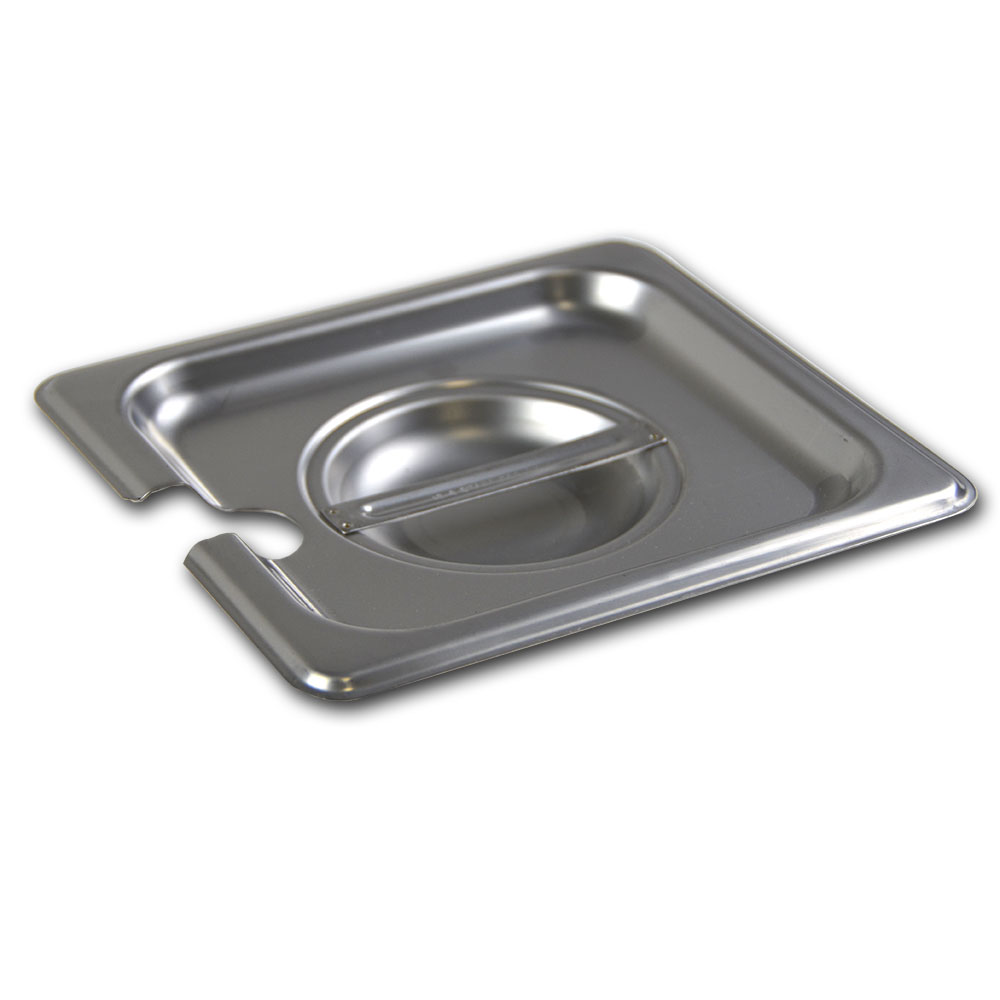 Browne Halco CP8162NC Sixth-Size Steam Pan Cover - Notched, Stainless