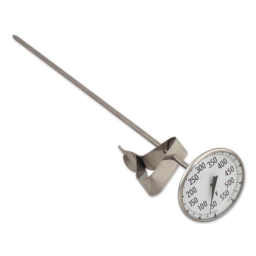 Browne Halco CT84122 12 in Candy / Fry Thermometer, 2-1/8 in dial, 50 to 500 degrees F