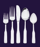 Browne Foodservice 502703 Elegance Dinner Fork, 18/0 Stainless Steel