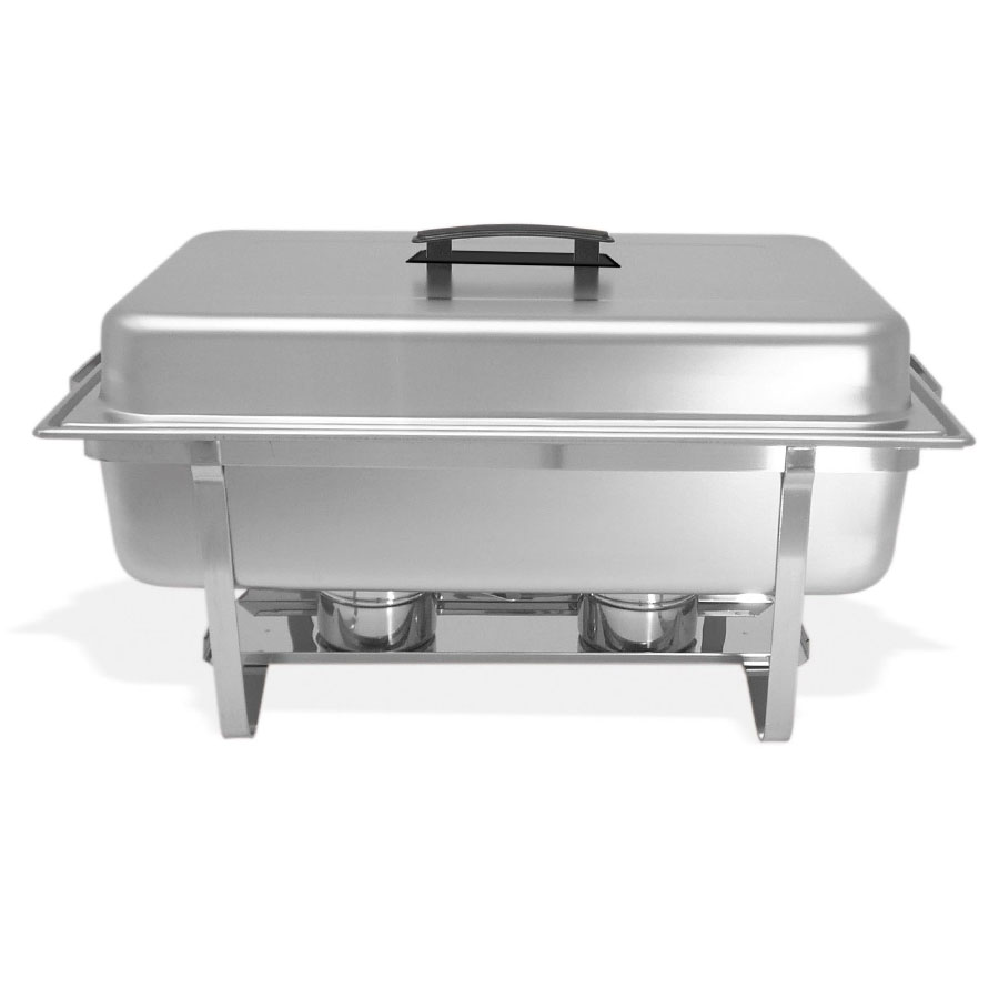 Browne HL725A Full Size Chafer w/ Hinged Lid & Chafing Fuel Heat