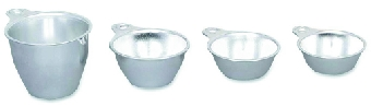 Browne Foodservice HLK66 Measuring Cup Set, Includes 1/4, 1/3, 1/2 & 1 Cup, Aluminum