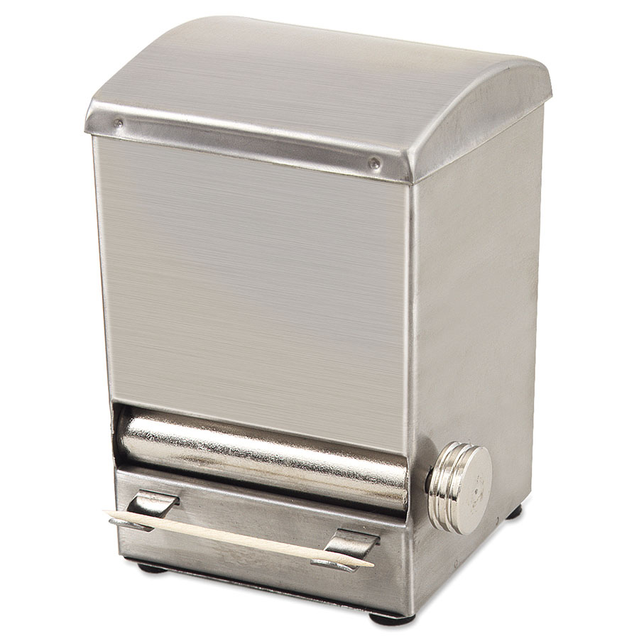 Browne ALTD5 Toothpick Dispenser - 18/8 Stainless Steel