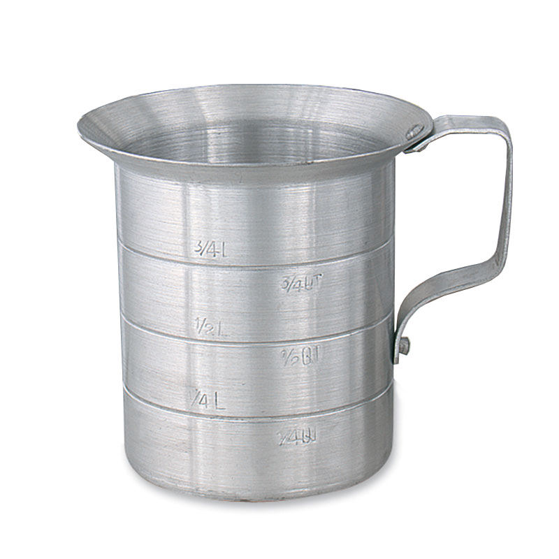 Browne Halco ML10 Heavy Duty Liquid Measuring Cup w/ 1-qt Capacity, Aluminum