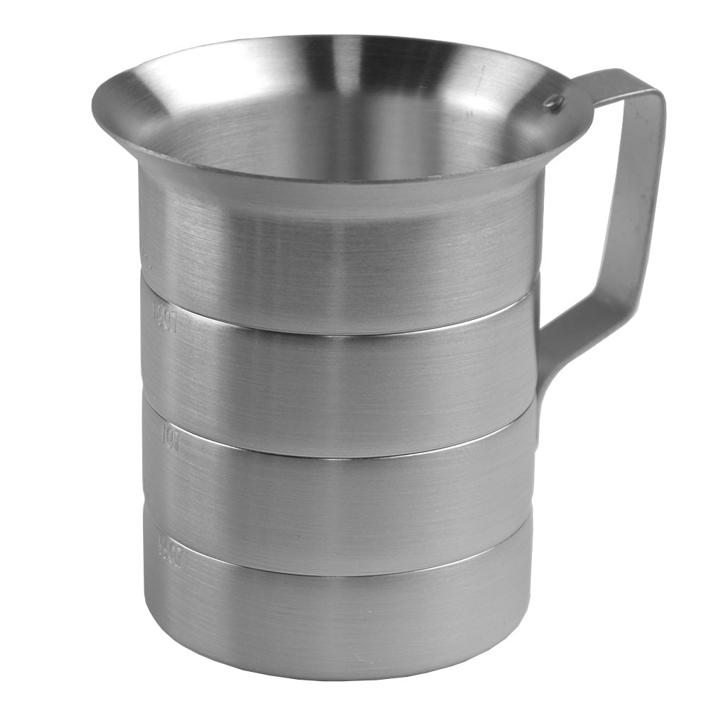Browne Halco ML20 Liquid Measuring Cup, 2 qt, Heavy Duty Aluminum