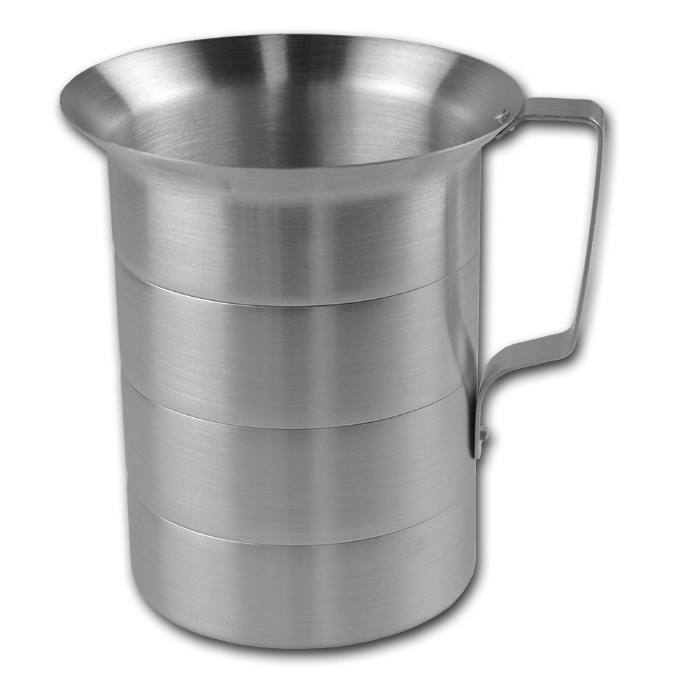 Browne Halco ML40 Liquid Measuring Cup, 4 qt, Heavy Duty Aluminum