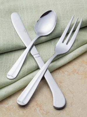 Browne Foodservice 501715 Notting Hill Seafood Fork, Mirror Finish, Stainless Steel