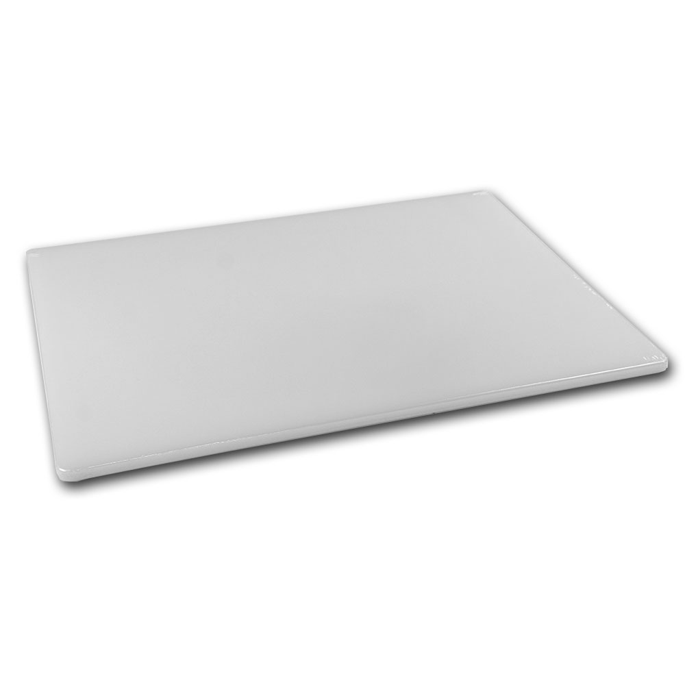 Browne Halco PER1520MD Cutting Board, 15 x 20 x 1/2 in, Medium-Density Poly Board, White