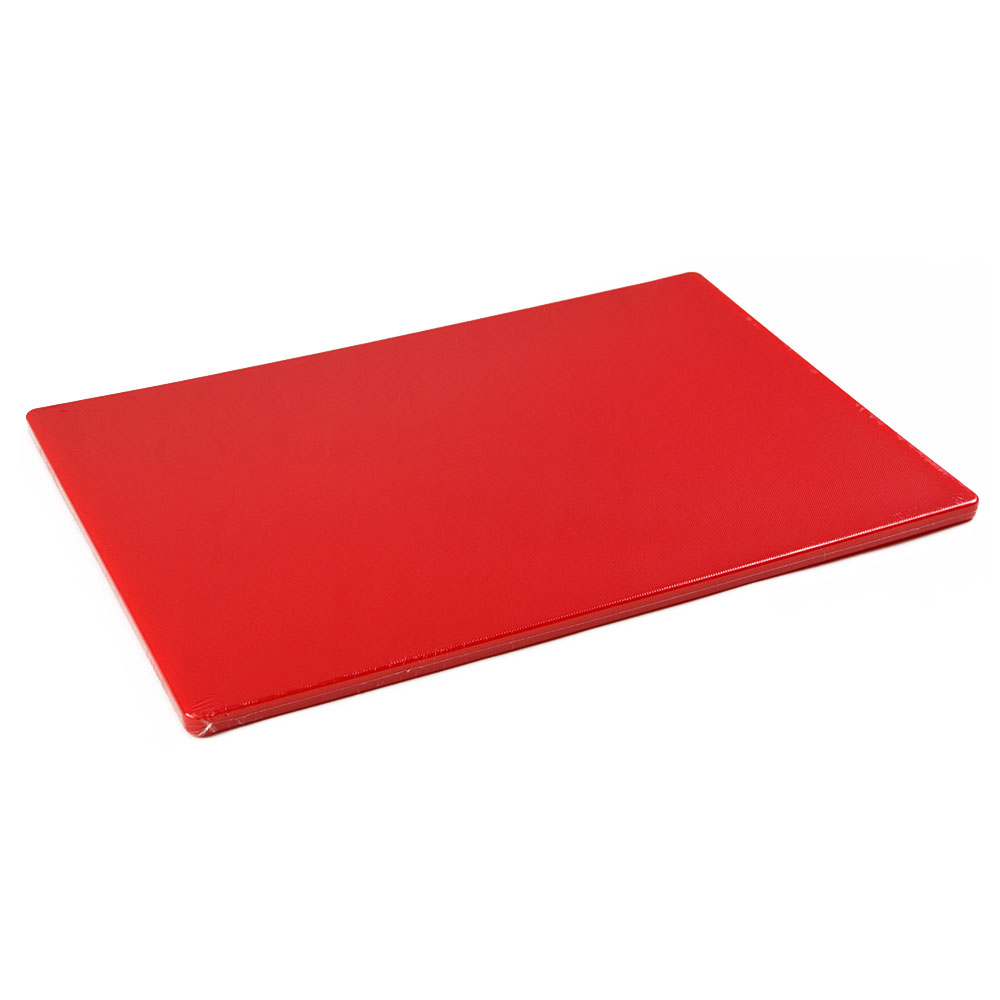 Browne PER1218MR Cutting Board, 12 x 18 x 1/2 in, Medium-Density Poly Board, Red