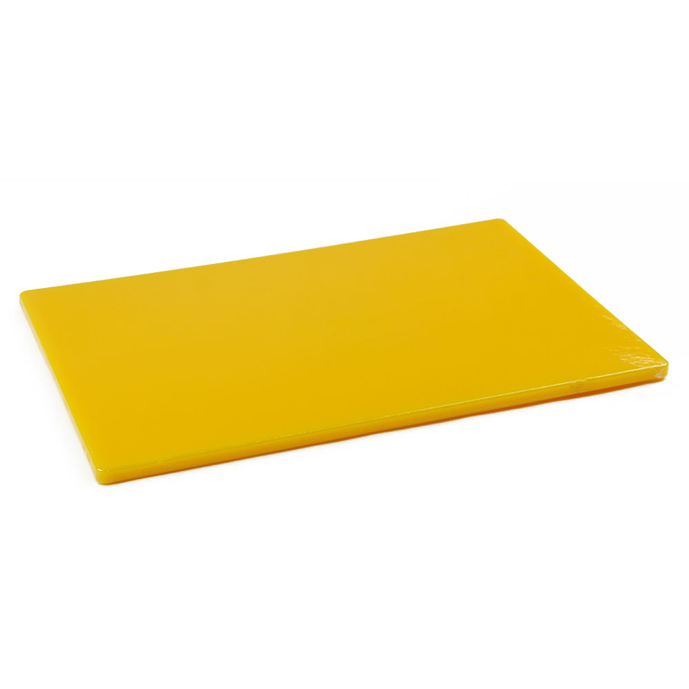 Browne Halco PER1218MY Cutting Board, 12 x 18 x 1/2 in, Medium-Density Poly Board, Yellow