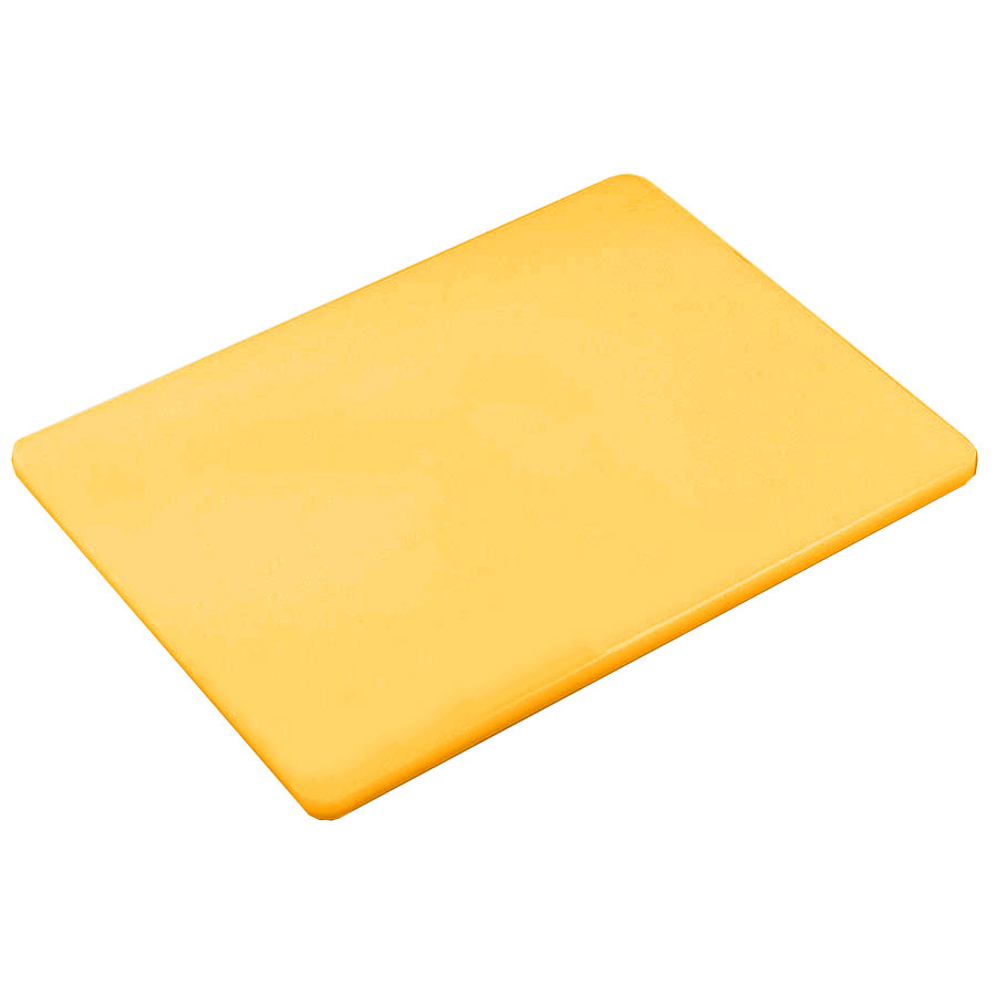 Browne PER1520MY Cutting Board, 15 x 20 x 1/2 in, Medium-Density Poly Board, Yellow