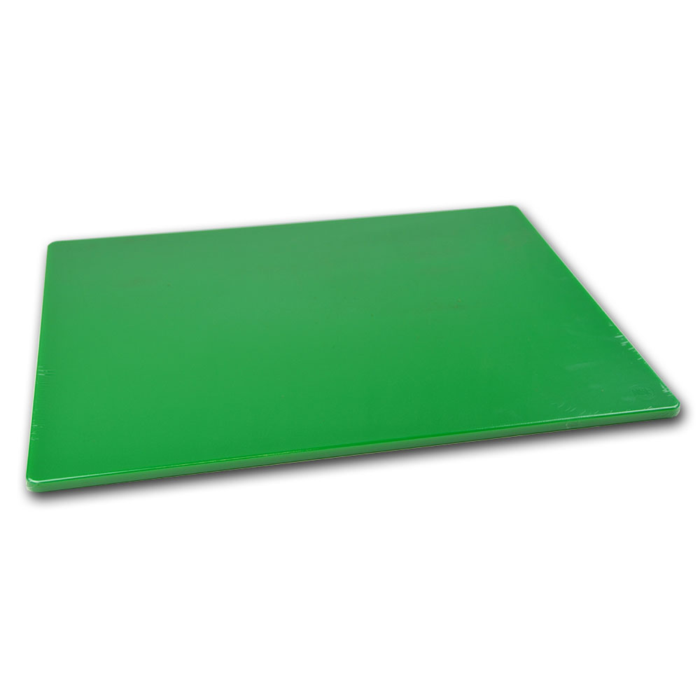 Browne Foodservice PER1824MG Cutting Board, Medium-Density Poly Board, 18 x 24 x 1/2 in, Green