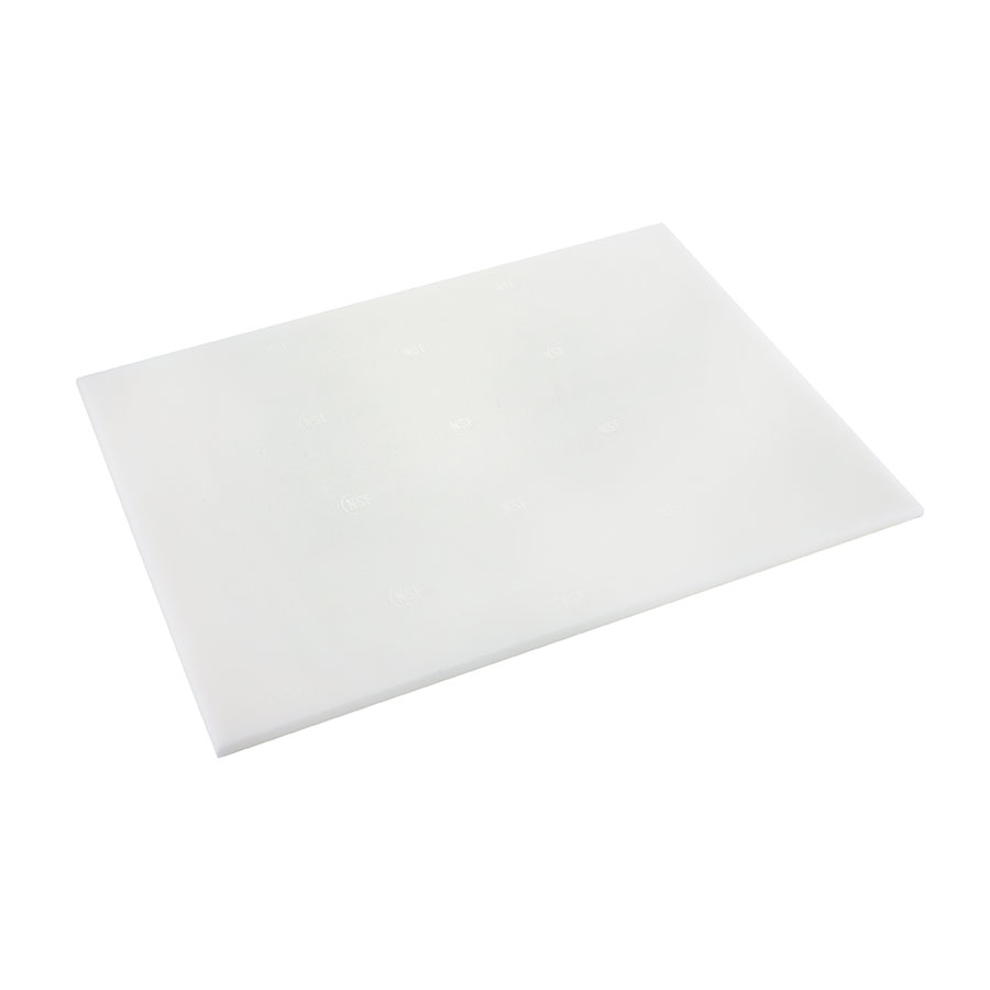 Browne Halco PER69 Cutting Board, 6 x 9 x 1/2 in , High-Density Poly Board, White