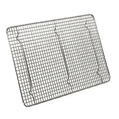 Browne Halco PG12165 Footed Pan Grate, 12 x 16-1/2 in, Nickel Plated Wire