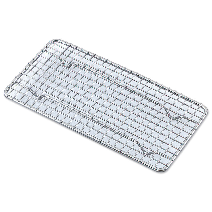 Browne Foodservice PG810 Pan Grate, 8 x 10 in, Footed, Chrome Plated
