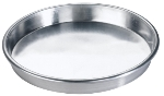 Browne Halco 57 30066 6 in Deep Dish Pizza Pan, Straight Sides, Aluminum, Natural Finish