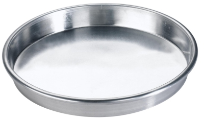 Browne Halco 57 30067 7 in Deep Dish Pizza Pan, Straight Sides, Aluminum, Natural Finish