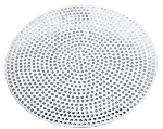 Browne Halco 57 30018 18 in Perforated Pizza Disk, Aluminum, Natural Finish