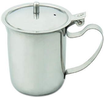 Browne Foodservice S202 Teapot Creamer, Non-Stackable w/ Hinged Lid & Knob
