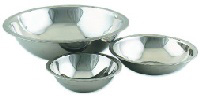 Browne Foodservice S773 Mixing Bowl, 3 qt, Rolled Edge, Mirror Polished, 700 Series