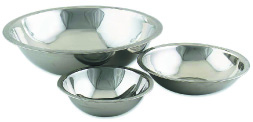 Browne Foodservice S774 Mixing Bowl, 4 qt, Rolled Edge, Mirror Polished, 700 Series