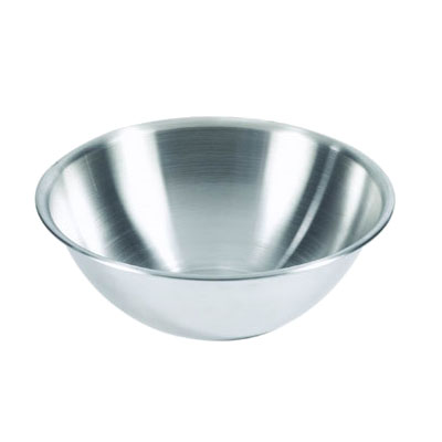Browne Halco S874 Mixing Bowl, 4 qt, Rolled Edge, Heavy-Duty 18/8 Stainless Steel