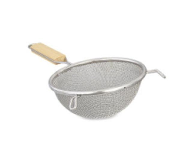 Browne Halco S9198 8-in Round Strainer w/ Medium Single Mesh, Stainless
