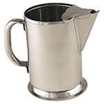 Browne S980 Water Pitcher, w/ Ice Guard, 64 oz capacity, 18/8 Stainless Steel, Gadroon Base