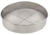 Browne Foodservice S9916 Stainless Steel Rimmed Sieve, 16 in