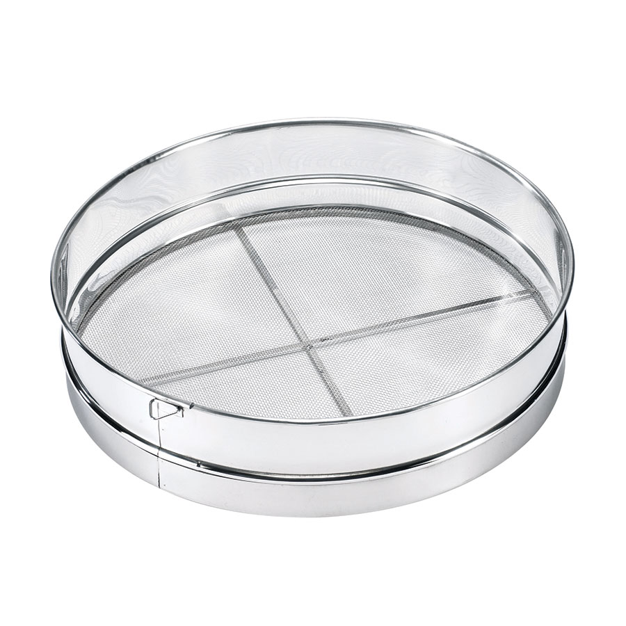 Browne Halco S9916 Stainless Steel Rimmed Sieve, 16 in